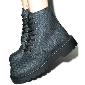 DRAGON SCALE KHALEESI COMBAT BOOTS FROM T.U.K.